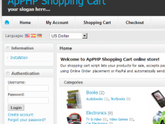 PHP Ecommerce Cart ecommerce software 3.8.4 Screenshot