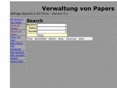 PHP Papers DB 0.1.2 Screenshot