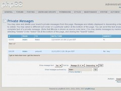 phpBB3 Private Message Moderation  Screenshot