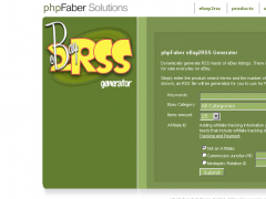 PHPFABER Ebay2RSS Generator 2.0 Screenshot