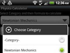 Physics Calculator 1.1 Screenshot