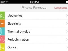 Physics Formulas Free 3.0 Screenshot