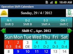 PIC Operation Shift Calendar 2.0 Screenshot