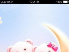 Cute Bear love honey with Pink hearts DIY Theme 3.9.8 Screenshot