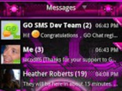 Pink Bionic GO SMS Theme 1.2 Screenshot