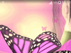 Pink Butterfly Live Wallapper 1.5 Screenshot