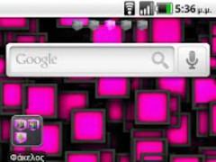 Pink Cube Theme GO Launcher EX 1.0 Screenshot