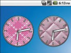 Pink Girly Cute Clocks 1.4 Screenshot