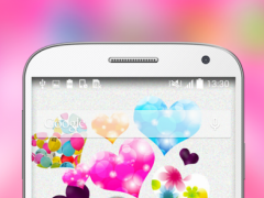 Pink Hearts Live Wallpapers HD 1.0 Screenshot