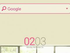 Pink LUV(w) LINELauncher Theme 4.1 Screenshot