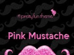 Pink Mustache Theme GO SMS 1.0 Screenshot