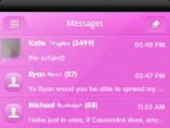PINK POP GO SMS Theme 1.0 Screenshot