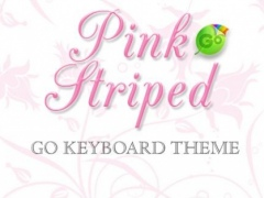 ★ Pink Striped Go Keyboard ★ 1.2 Screenshot