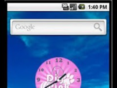 Pink Volleyball Clock 1 Screenshot