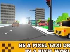 Pixel Loop Taxi Race 3D 1.0 Screenshot