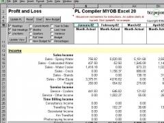 PL Compiler MYOB Excel 30 Screenshot