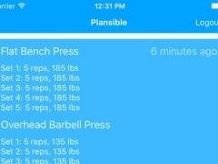 Plansible - Weight Lifting Journal 1.1 Screenshot
