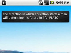 Plato Quotes Widget 4x1 1.1 Screenshot