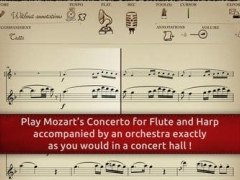 Play Mozart – Concerto for Flute and Harp K299 (interactive sheet music) 1.4.2 Screenshot