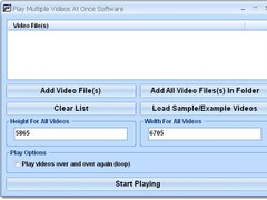 Play Multiple Videos At Once Software 7.0 Screenshot
