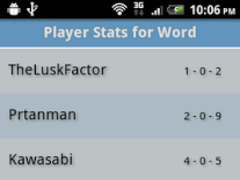 Player Stats for Word 1.4.2 Screenshot