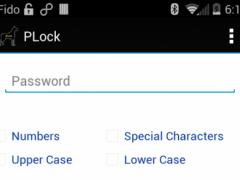 PLock - Password Manager 1.0 Screenshot