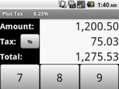 Plus Tax 1.2 Screenshot