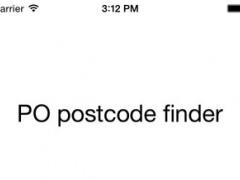 PO Postcode Finder 1.0 Screenshot