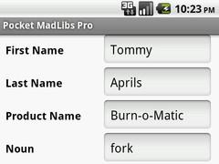 Pocket MadLibs Pro 1.0.5 Screenshot