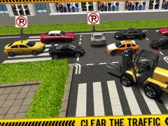 Police ForkLift vs Car Traffic 1.6 Screenshot