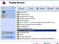 PopUp Burner 1.00 Screenshot