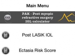 Post myopic refractive surgery IOL Calculator and Calculator of safety parameters for LASIK 4.0 Screenshot
