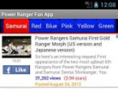Power Rangers Fan App 1.00 Screenshot