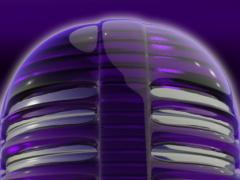 Poweramp skin purple glass 3.02 Screenshot