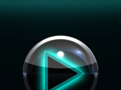 Poweramp Widget Lightblue Glow 2.08 Screenshot