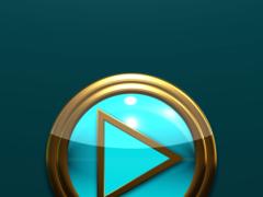 Poweramp Widget Lightblue Gold 2.08 Screenshot