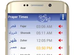 Prayer time and qibla compass 2.1 Screenshot