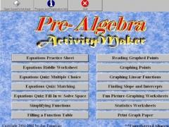 PreAlgebra ActivityMaker 2.0 Screenshot