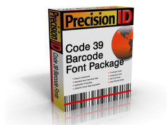 PrecisionID Code 39 Barcode Fonts 2012 Screenshot