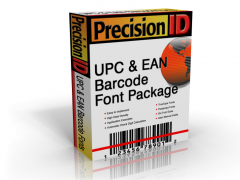 PrecisionID UPC Barcode Fonts 2012 Screenshot