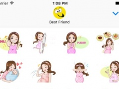 Pregnant Mommy & Baby ● Emoji Stickers Pack 1.0 Screenshot
