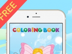 Princess & Fairy Coloring Book - All In 1 Drawing, Paint And Color Games HD For Good Kid 1.1 Screenshot