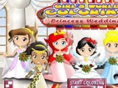 Princess Wedding Coloring World - My Paint, Color and Draw Frozen Fairy Tail Magic For Girls FREE 1.2 Screenshot