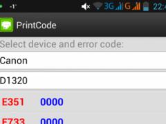 Printer / MFP Error Codes 1.0 Screenshot