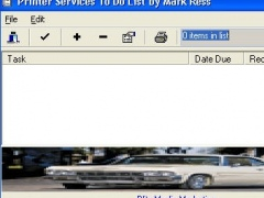Printer Services To Do List by Mark Ress 1.1 Screenshot