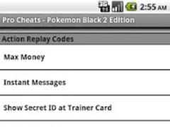 Pro Cheats Pokemon Black 2 Edn 1.0 Screenshot