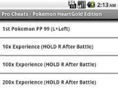 Pro Cheats: Pokemon HeartGold 1.1 Screenshot