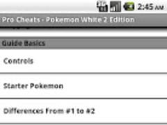 Pro Cheats Pokemon White 2 Edn 1.0 Screenshot