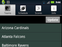 Pro Football Radio & Scores 1.4 Screenshot