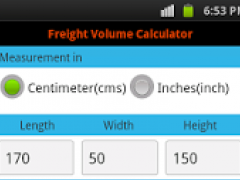 PRO Freight Volume Calculator 1.5 Screenshot